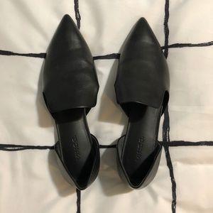 Vince Damris Black Leather Flats